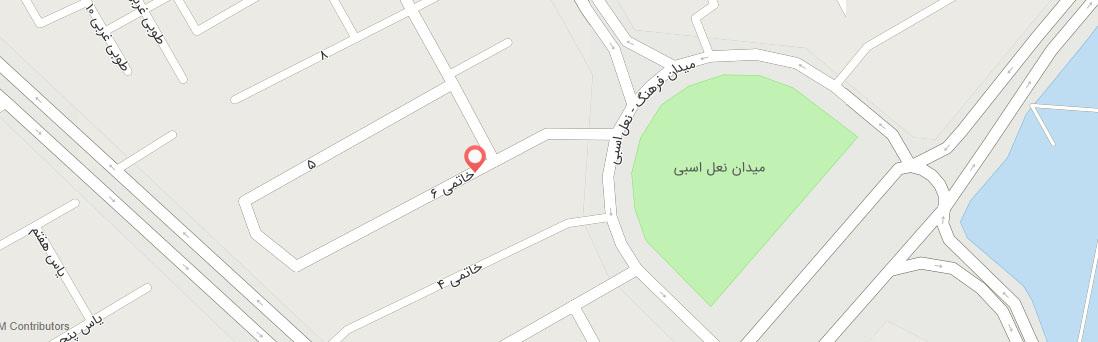 آدرس آموزشگاه کامپیوتر فرزانگان یزد روی نقشه